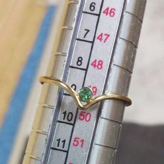 ブラジル産パライバトルマリン 14kgfリング 9号(リング(指輪))