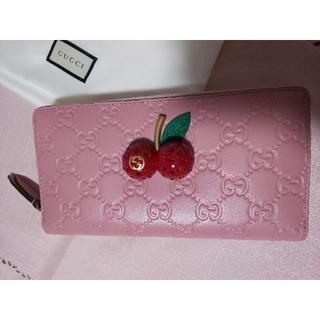 グッチ(Gucci)の【未使用】グッチ チェリー  長財布(財布)