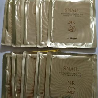 ザセム(the saem)のthe SAEM 24K ゴールドジェルマスクシート 10枚セット(パック/フェイスマスク)