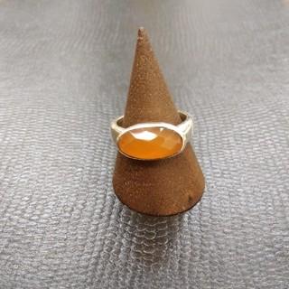オレンジストーンリング 925刻印あり 12.5号(リング(指輪))