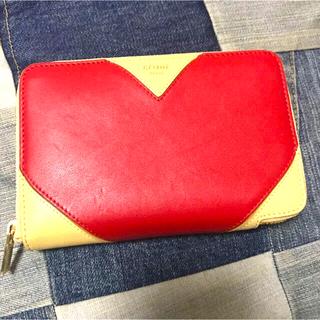 セリーヌ(celine)のセリーヌ 二つ折り財布 レザー ハートミディアム最終値下げ ラウンドファスナー(財布)