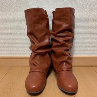 NIGHT ONE バック編み上げナウシカブーツ ブラウン Sサイズ 新品(ブーツ)