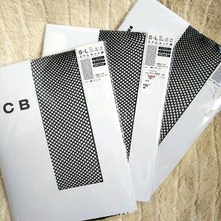 アイシービー(ICB)のS~L☆ミドルネット柄☆ブラック☆iCB☆3足組(タイツ/ストッキング)