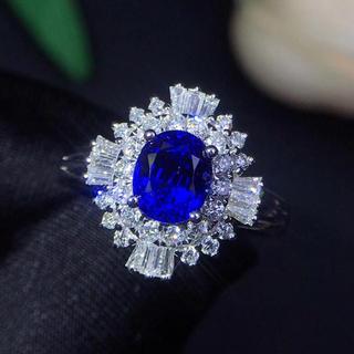 (天使の指輪)天然ロイヤルブルーサファイア ダイヤモンド リング(リング(指輪))