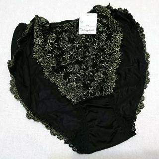 ワコール(Wacoal)のワコール スタディオファイブ 小花刺繍のショーツ ブラック(ショーツ)