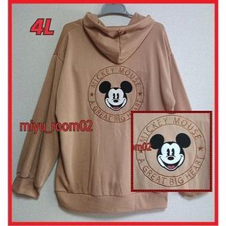 ミッキーマウス(ミッキーマウス)の【新品☆】Disney ミッキー パーカー(裏起毛)☆4L(パーカー)
