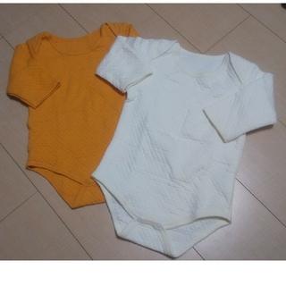 アカチャンホンポ(アカチャンホンポ)のアンダーウェア 白&オレンジ 2枚セット 90(Tシャツ/カットソー)