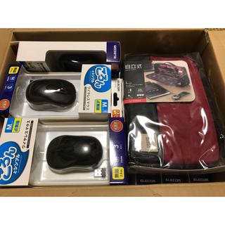 エレコム(ELECOM)のELLECOM 無線 ワイヤレスマウス 15個  + ガジェットポーチ(PC周辺機器)