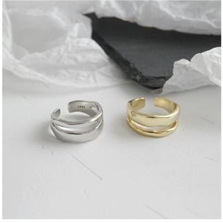 トゥデイフル(TODAYFUL)のインポート silver 925 2line ring #237(リング(指輪))