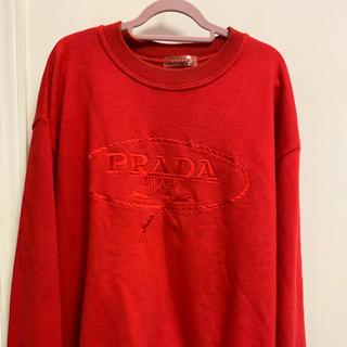 プラダ(PRADA)のプラダ トレーナー 赤(スウェット)