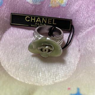 シャネル(CHANEL)のシャネル 正規品 中古 リング 指輪 ラインストーン ロゴ 13号(リング(指輪))