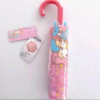 サンリオ(サンリオ)の即購入OK!新品タグ付き サンリオ キキララ 折り畳み傘 袋付 ピンク(傘)