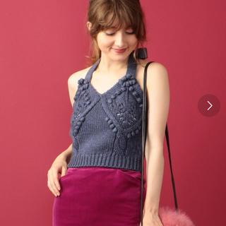 ビューティアンドユースユナイテッドアローズ(BEAUTY&YOUTH UNITED ARROWS)のニット キャミソール ブルー me&me couture(キャミソール)