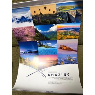 エヌイーシー(NEC)の☆NEC AMAZING 壁掛2020年風景カレンダー 世界 日本 自然 非売品(カレンダー/スケジュール)