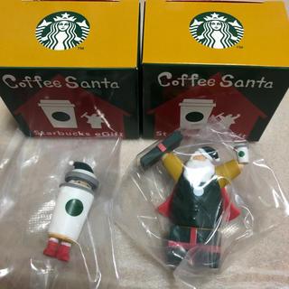 スターバックスコーヒー(Starbucks Coffee)のスタバ コーヒーサンタ 2種類セット(ノベルティグッズ)