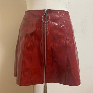 ベルシュカ(Bershka)のフェイクレザースカート(ひざ丈スカート)