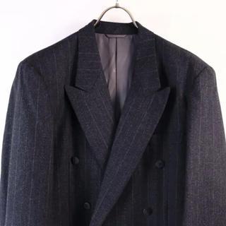クリスチャンディオール(Christian Dior)のDior ウールテーラードジャケット ストライプ L(テーラードジャケット)