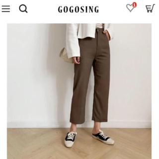 ゴゴシング(GOGOSING)の〈gogosing〉リネンストレートパンツ 155cm(カジュアルパンツ)