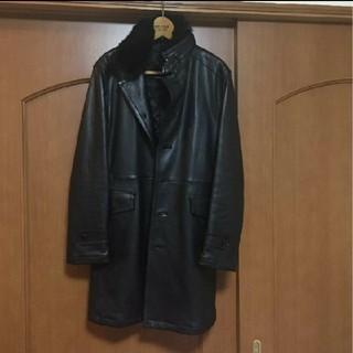 バーバリーブラックレーベル(BURBERRY BLACK LABEL)のバーバリー ブラックレーベル ラムレザーコート(レザージャケット)