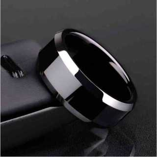 チタンブラックリング (ブラック)  サイズ:31号(リング(指輪))