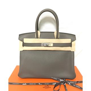 エルメス(Hermes)のHERMES 新品 バーキン30 グリエタン シルバー金具(ハンドバッグ)