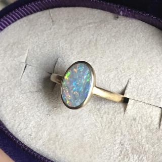 アガット(agete)の定価12万 ブラックオパールリング shinjewelry シンジュエリー(リング(指輪))