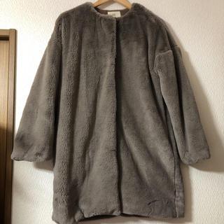 ジーユー(GU)のrps ノーカラーファーコート(毛皮/ファーコート)