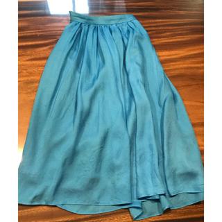 ノーブル(Noble)のNobleのシルクスカート(ひざ丈スカート)