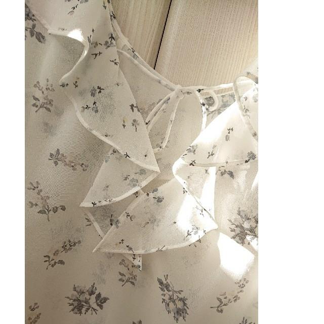 MERCURYDUO(マーキュリーデュオ)のマーキュリーデュオ  2way花柄フリルトップス レディースのトップス(カットソー(半袖/袖なし))の商品写真