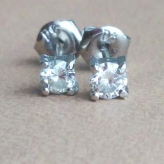 【Pt900】◆ 一粒ダイヤモンド0.14ct×2 ピアス/Pt/0.14刻印(ピアス)