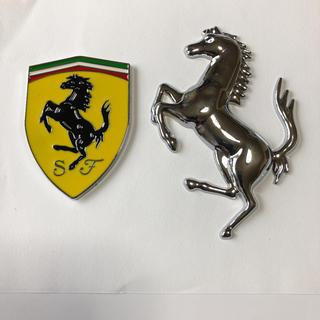 フェラーリ(Ferrari)のフェラーリ メタルスクーデリア &ガバリーノ3Dステッカー(ステッカー)