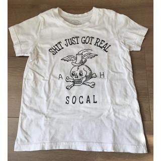アナザーヘブン(ANOTHER HEAVEN)のANOTHER HEAVEN ホワイトスカルTシャツ 120cm(6ans)(Tシャツ/カットソー)