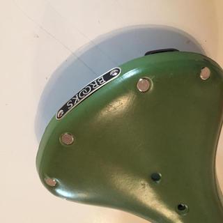 ブルックス(Brooks)のBrooks B17 ブルック サドル グリーン レアカラー 美品 ブロンプトン(パーツ)