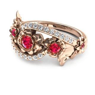 指輪 ジルコニア リング バラ  日本サイズ14  号 (リング(指輪))