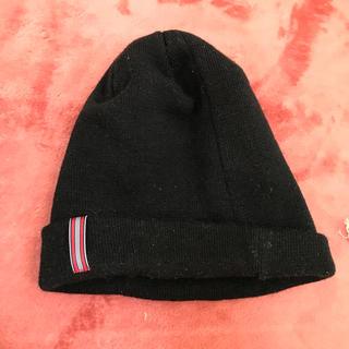 イーハイフンワールドギャラリー(E hyphen world gallery)の黒ニット帽子(ニット帽/ビーニー)