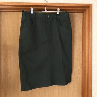 アベイル(Avail)のグリーン タイトスカート(ひざ丈スカート)