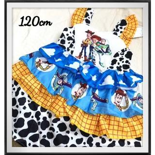 ディズニー(Disney)の○120cm、トイストーリー、フリルワンピース、ディズニー、ドレス、TDRに!(ワンピース)