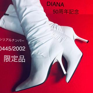 ダイアナ(DIANA)のダイアナ  50周年記念 白 ブーツ 新品未使用品 限定品(ブーツ)