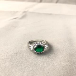指輪 リング 8号 9号 グリーンダイヤ メンズ レディース  アクセサリー新品(リング(指輪))