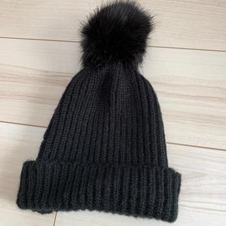 ザラ(ZARA)のZARA ポンポンニット帽(ニット帽/ビーニー)