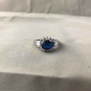 ブルーダイヤ リング 指輪 レディース  メンズ 8号 9号 新品(リング(指輪))