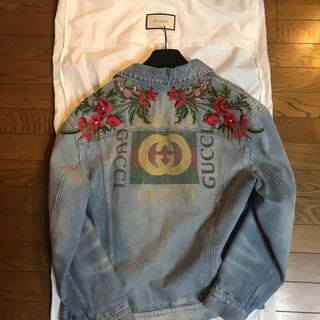 Gucci - 即完売 ほぼ未使用 Gucci ウォッシュ デニムジャケット 46 花柄刺繍
