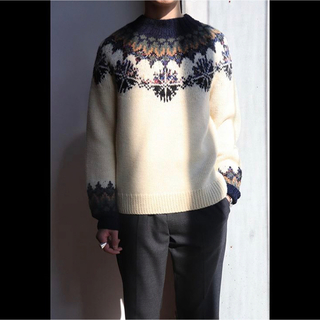 ドリスヴァンノッテン(DRIES VAN NOTEN)のDRIES VAN NOTEN TILES Snowflake Sweater(ニット/セーター)