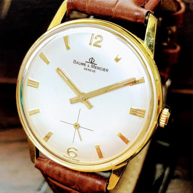 カルティエ 時計 スリーゴールド | BAUME&MERCIER - ボームアンドメルシェ BAUME&MERCIER  ジュネーブ 腕時計 メンズの通販 by フォローいいねキャンペーン!