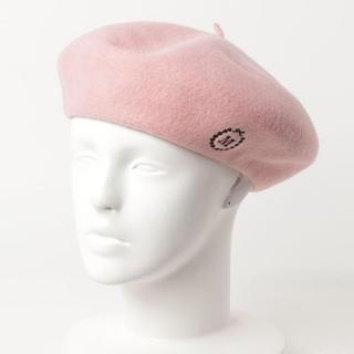 ミルク(MILK)の新品未使用【MILK/ミルク】ワンポイントベレー ピンク(ハンチング/ベレー帽)