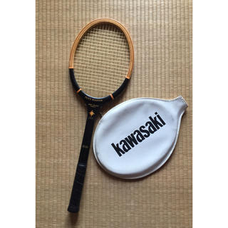ウッドラケット(カバー付) Kawasaki カワサキ 木製ラケット