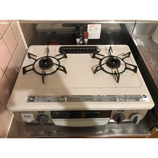 リンナイ(Rinnai)のリンナイ  プロパン ガステーブル  グリル付き 右強火力 水無し片面焼グリル(調理機器)
