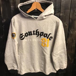 SOUTH POLE - SOUTHPOLE サウスポール スウェットパーカー ベーシックロゴ ・ワッペン