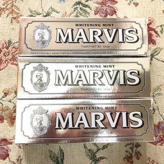 マービス(MARVIS)の【年末限定‼︎早い者勝ち】新品、未使用!MARVIS 歯磨き粉 75ml×3本(歯磨き粉)