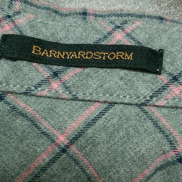 BARNYARDSTORM(バンヤードストーム)の未使用 バンヤードストーム  ネルシャツ レディースのトップス(シャツ/ブラウス(長袖/七分))の商品写真